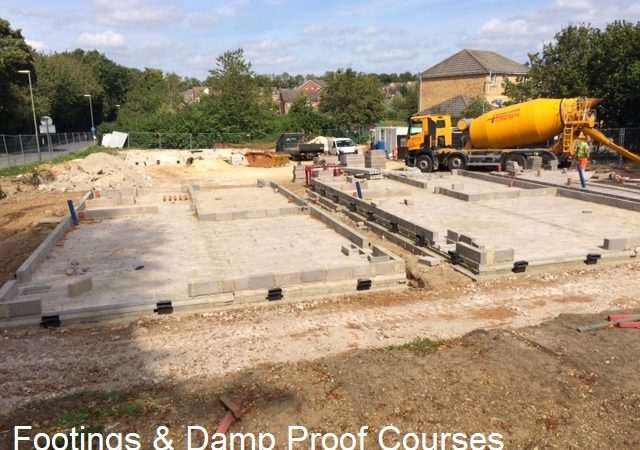 04 Footings and Damp Proof Courses in place